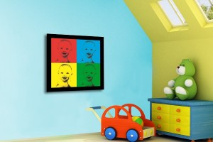 tableau pop art multicolor